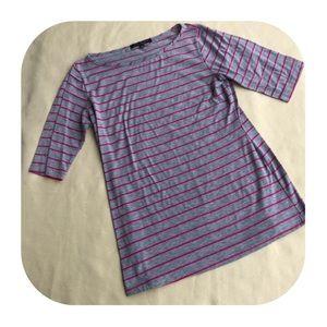 6/$15 Green Envelope striped shirt large